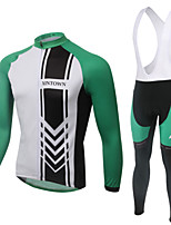 WEST BIKING® Breathable Men's MTB Green Clothing Suit Wicking Cycling Bib Long Suit Long Sleeves Bib Pants