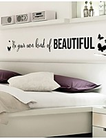 Literary Youth Black Letters Wall Stickers
