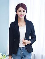 Women's Casual Work Medium Long Sleeve Regular Blazer (Cotton)
