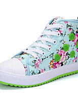 Women's Shoes Canvas Platform Comfort/Round Toe Fashion Sneakers Dress/Casual Blue/Pink