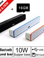 besteye® 16gb carte tf et G-807 10w hifi haut-parleurs de la barre de son fm aux stéréo bluetooth télécommande sans fil parle