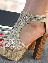Women's Shoes Peep Toe Square Heel Sandals Shoes