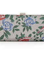 L.WEST Woman Fashion Flower Evening Bag
