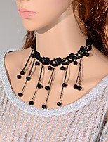 Vintage Tassels Bead Necklace