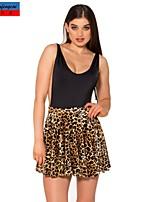 CMFC®Women's Skirt Korean Style Fashion Leopard Print Bodycon Skirt Sweet Lady Casual All-Match Pleated Skirt
