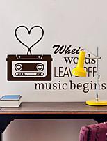 pegatinas de pared etiquetas de la pared, modernas cintas de música pegatinas de pared del pvc