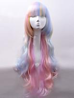 nuovi capelli stile onda naturale parrucche doppio colore parrucche sintetiche onda