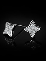 Cute/Party/Casual Sterling Silver Stud Earrings