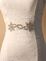 Satin/ Tulle Wedding/Party Bride Luxury Sash With Flower Rhinestone