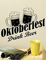 Wall Stickers Wall Decals Style Oktoberfest Drink Beer English Words & Quotes PVC Wall Stickers