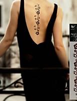 - Tattoo Aufkleber - Non Toxic/Stamm/Hawaiian/Unterer Rückenbereich/Waterproof - Blumen Serie - für