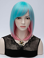 Mix Color Fashion Short Color Wigs Synthetic Hair Wig Costume Wigs For Women