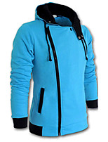 2015 New Inclined Zipper Men Hooded Jacket Hot Sell
