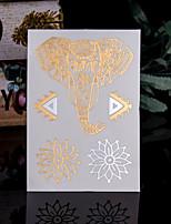 4 - Séries animales - Doré/Multicolore - Motif - 14*9*0.2cm - Tatouages Autocollants Homme/Femme/Adulte/Adolescent