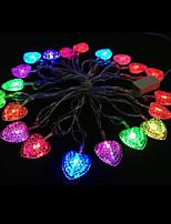2W 4 Meter Outer Diameter 20pcs Bulb LED Modeling String Lighting Love Heart Lights, RGB Color