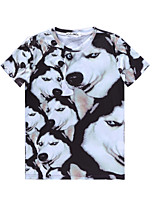 European Style TEE Digital Printing 3D T-shirt Big Husky Diamond Harajuku Sleeved T-shirt
