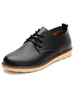 Men's Shoes Outdoor/Office & Career Leather Oxfords Black/Blue/Brown/Orange