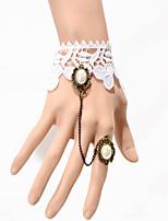 Vintage Half Pearl Bracelet With Ring