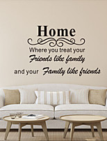 Wall Stickers Wall Decals Style Home English Words & Quotes PVC Wall Stickers