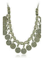 New Gypsy Coin Statement Vintage Necklace