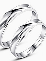 Couples' Water wavy Silver Ring (A pair of selling)