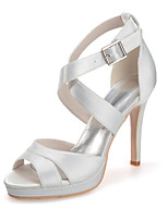 Women's Shoes Silk Stiletto Heel Open Toe Sandals Wedding/Party & EveningMore Colors available