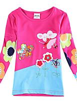 Tee-shirts Fille de Manches longues Hiver/Printemps/Automne Coton