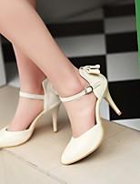 Women's Shoes  Stiletto Heel Pointed Toe Pumps/Heels Office & Career/Dress Black/Green/Red/Beige