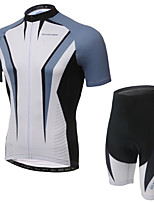 XINTOWN RuiJian Gray Unisex Short Sleeve Spring/Summer/Autumn Cycling Suits/Breathable/Quick Dry/3D Pad/Reflective