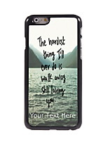 Personalized Gift The Hardest Thing Design Aluminum Hard Case for iPhone 6