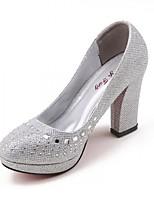 Women's Shoes Patent Leather Low Heel Heels Pumps/Heels Wedding Silver