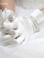 Wrist Length Fingertips Glove Elastic Satin Winter Gloves/Bridal Gloves/Party/ Evening Gloves