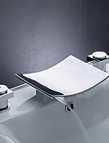 Desk Mounted Bathroom Bath Tub Faucet Chrome Waterfall Bath Shower Faucets Vessel Sink Plumbing Fixtures Unique Designer