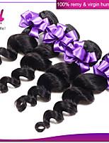 non transformés cheveux humains malaisiens de faisceaux de cheveux vierges tisse malaisien vague lâche naturel noir