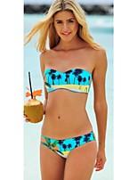 Women's Color Block Bandeau Bikinis (Rayon)