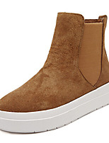 Women's Shoes Wedge Heel Bootie Boots Outdoor/Casual Brown