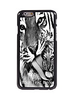 Personalized Gift Two Tiger Design Aluminum Hard Case for iPhone 6