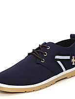 Men's Shoes Outdoor/Office & Career Canvas Oxfords Black/Blue/Red