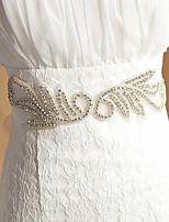 여성용 허리 장식띠 창틀 새틴 & 튤 웨딩/파티/이브닝 모조 다이아몬드