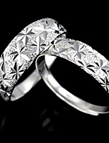Couples' Blazing Star Silver Ring
