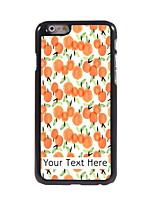 Personalized Gift Orange Design Aluminum Hard Case for iPhone 6