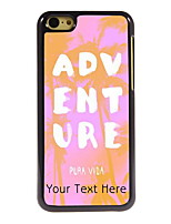 Personalized Gift ADVENTURE Design Aluminum Hard Case for iPhone 5C