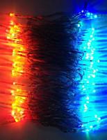 8W 10 Meter Outer Diamerter 100pcs Bulb LED Modeling String Optical Fiber LED Lights, Red/Green/Blue/Yellow Color