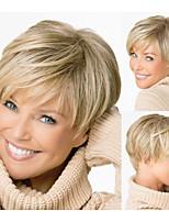 droites courtes cheveux perruques blondes avec une frange perruques naturelles pour les femmes