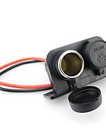 adaptador de corriente atv impermeable coche camión utv encendedor doble zócalo 12v