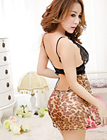 Sexy slim lace Club leopard bag hip skirt suit
