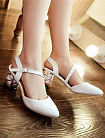 Women's Shoes  Chunky Heel Round Toe Pumps/Heels Outdoor/Office & Career/Casual Blue/Pink/White