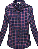 Women's Cotton Long Sleeve Check Blouse