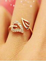 Drilled Leaves Open Ring(Gold/Silver)(1Pc)