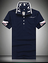 Men's Short Sleeve Polo , Cotton/Cotton Blend Casual/Work/Plus Sizes Print